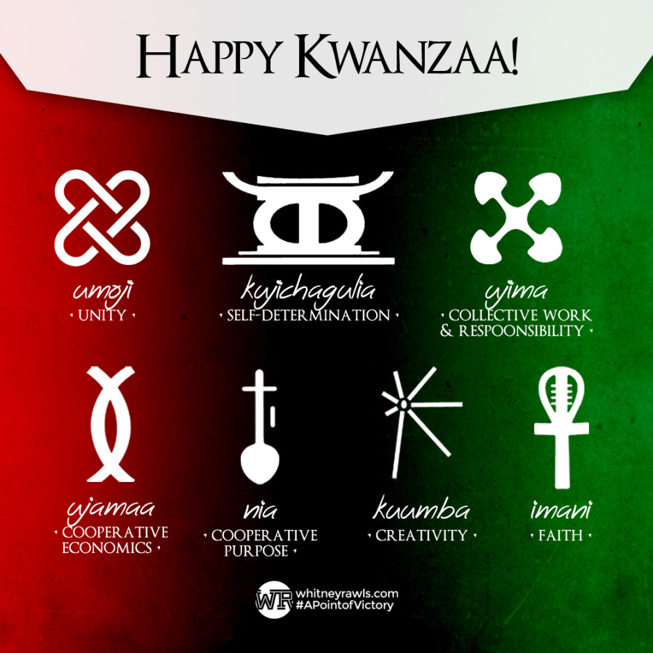 Happy Kwanzaa Whitney Rawls A Point Of Victory